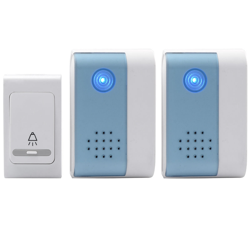 Wireless Chime Door Bell Doorbell & Wireles Remote Control 32 Tune Songs Home Security Use Smart Door Bell