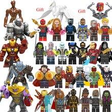 30 шт. танос эндигра Железный человек Капитан война машина LEGOEDING Marvel Мстители минифигурные строительные блоки игрушки для детей