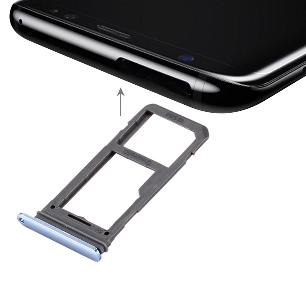 <font><b>SIM</b></font> Card Tray Socket <font><b>Slot</b></font> Holder Adapters Replacement Spare Parts for Samsung Galaxy S8 Micro SD Tray image