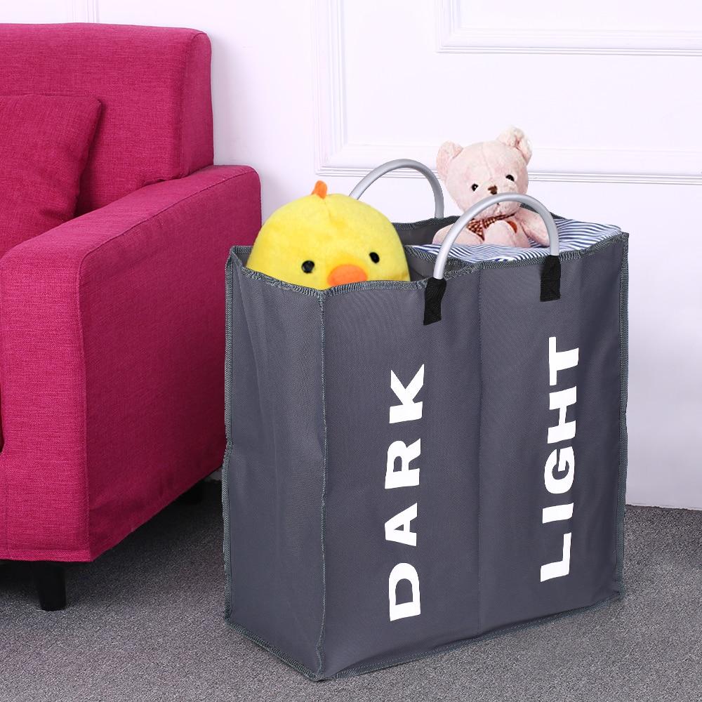 2 izgara Kirli çamaşır sepeti Çamaşır Organizatör Kirli Giysiler Oyuncak Sütyen çamaşır torbası Katlanabilir Oxford saklama çantası Alaşım Kolu ile