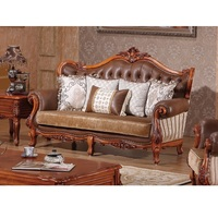 French style fabric sofa sets living room furniture,antique style wooden sofa from WA540