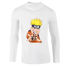Long Sleeve T-Shirt Naruto Japan Anime Capsule Men 2019 Autumn Cotton Casual T Shirts White Mens Bodybuilding Slim fit tshirt