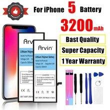 Hohe Kapazität 3200mAh 0 zyklus Telefon Batterie Für iPhone 5 Batterie Für Apple iPhone 5 ip5 iPhone 5G ersatz Batterie