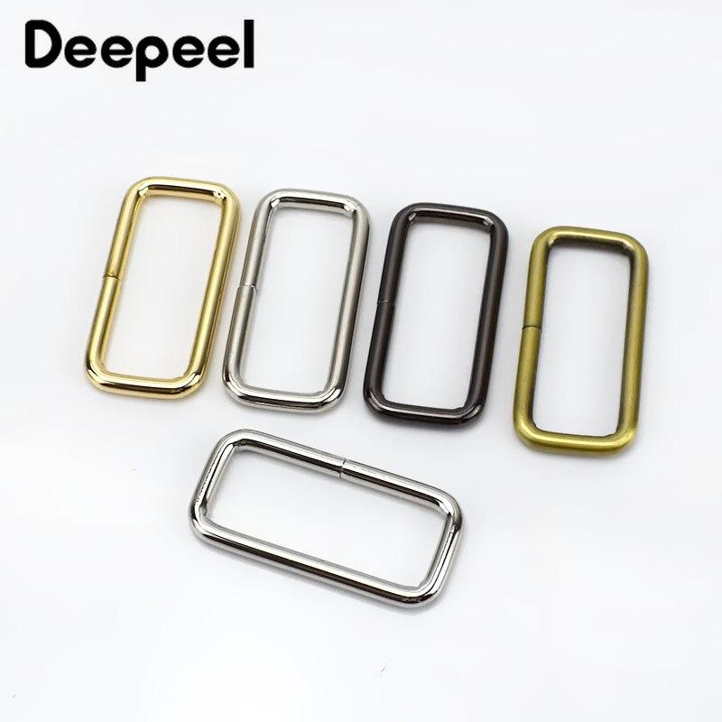 10/30/50pcs 50mm Rectangle Metal Buckles Webbing Belt Ribbon Buckle Clasp Handbag Strap Adjuster DIY Accessories Meetee F4-5