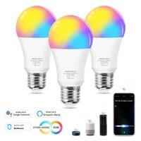 Lampadina a LED intelligente Wifi 12W E27 RGB CW lampada a LED dimmerabile che cambia colore funziona con Alexa Google Home Siri Voice Control