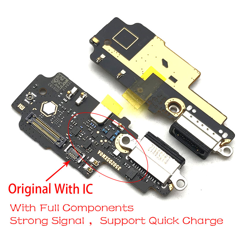 New For Xiaomi Mi Mix 2S Mix2s Dock Connector Micro USB Charger Charging Port Flex Cable Board With Microphone Replacement Parts