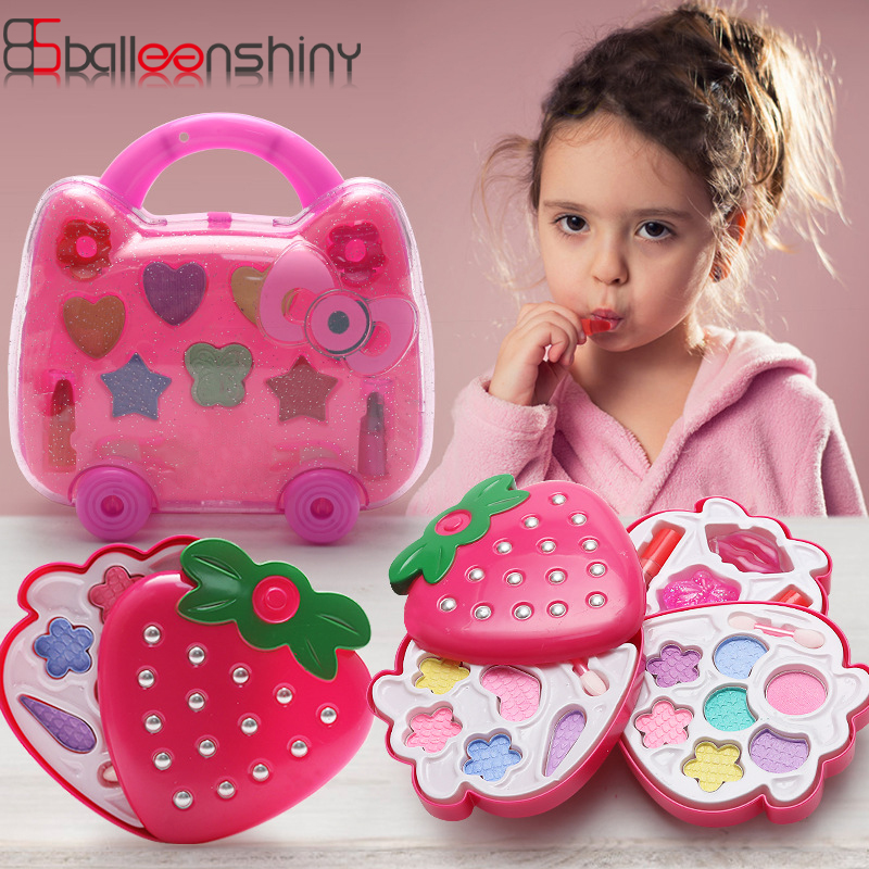 BalleenShiny Kids MakeUp Toy Set Nontoxic Cosmetics Kit Toys Pretend Play Makeup Beauty Toys Accessory For Child Girls Gifts