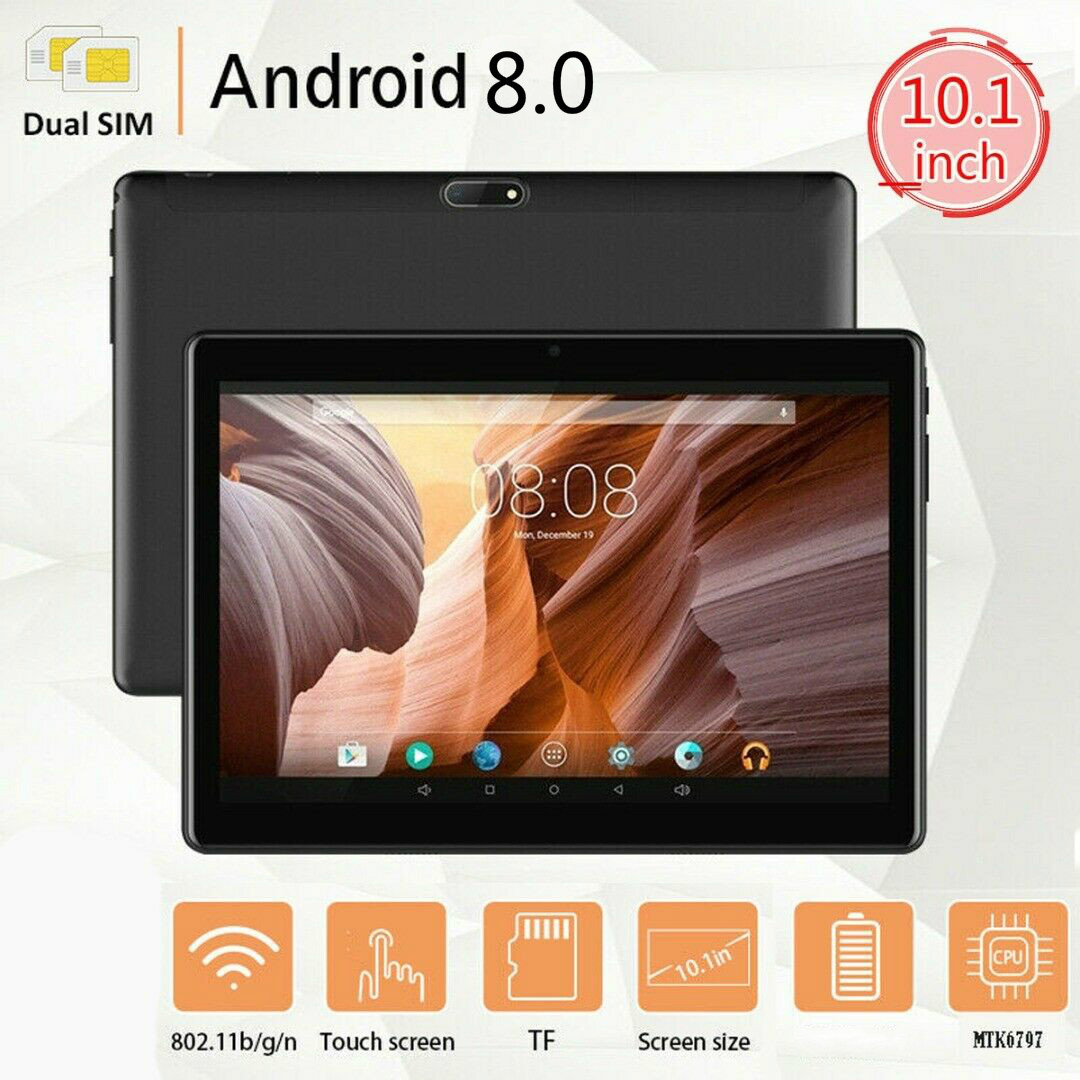 2020 Octa Core 10.1 Inch Tablet PC 4G LTE 6G+ 128GB 10 Cores Android 8.0 OS 1280*800 IPS 2.5D HD Glass Screen For Christmas