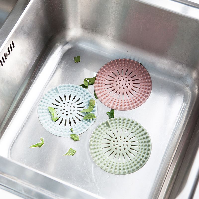 Clearance Sale Durable Creative Kitchen Bathroom Sink Filter Outlet Hair Food Residue Colanders & Strainers