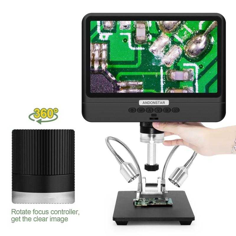 Andonstar Microscope 8.5 Inch LCD Display 5X-260X Adjustable Digital Microscopes 1080P Scope SMT Phone Repair Soldering Tools