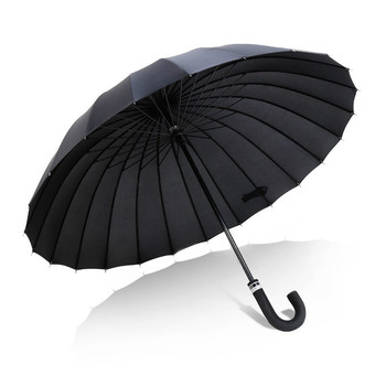 Big Size Double Rain  Long Handle Umbrella Women's Parapluie Umbrella Men Quality 24K Strong Windproof Glassfiber Frame