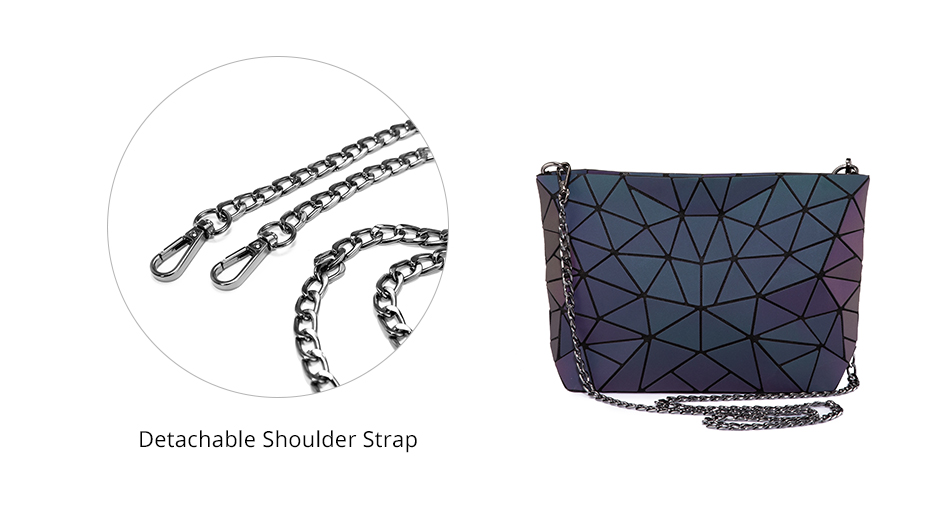Reflective Geometric Luminescent  Bag Set - Clutch, Purse, & Backpack - womens-bags, google-feed-new