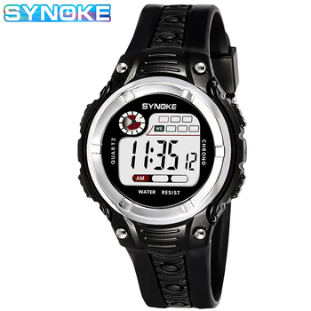 SYNOKE Kid Watches Children Sports Watch Waterproof Boys Girls LED Digital Watches Silicone Rubber Kids Casual Watch Gift Montre sanda new waterproof children watch boys girls led digital sports watches plastic kids alarm date casual watch gift for kid