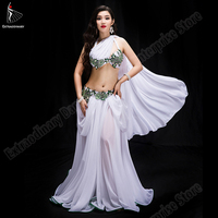 New Women Belly Dance Oriental Performance Sexy Bra Skirt Underpants Suit Dance Competition Suit Carnaval Costumes