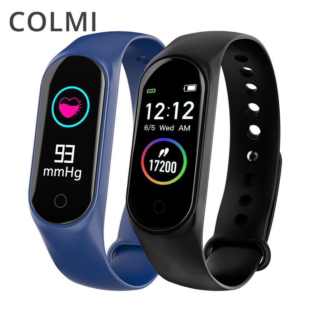 COLMI M4S Inteligente Pulseira Cor-screen IP67 Rastreador De Fitness Heart Rate Monitor de pressão arterial Inteligente Para Android IOS telefone