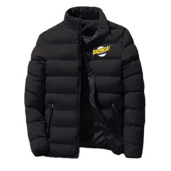 2020 męska zima nowy Big Bang teoria drukowania mody klasyczne bawełniane ubrania Snowy dzień ciepłe kurtki aktualny styl topy tanie i dobre opinie CN (pochodzenie) COTTON REGULAR STANDARD 9855 Suknem zipper NONE Aplikacje Drukuj Na co dzień MANDARIN COLLAR