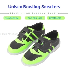 Men Sneakers Breathable Bowling Shoes Men Women Training Sports Shoes Breathable Skidproof Sole Trainers Bowling Supplies 34-47