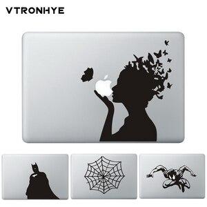 Naklejka na laptopa winylowa tablica naścienna do Macbook Pro Air Retina 13 11 15 fajne kompas drukuj częściowy naklejki dla HP Acer Dell