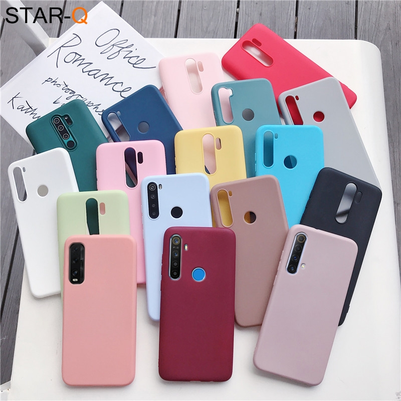 candy color silicone phone case for oppo realme 5i c3 6i 6 5 7 5g pro find x2 pro lite matte soft tpu cover cases