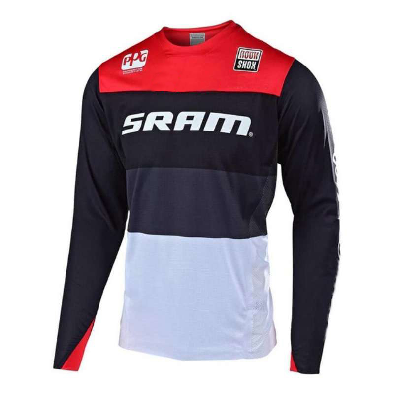 New Downhill Jersey mtb full sleeve jersey women mx dh t-shirt Mountain <font><b>Bike</b></font> Riding <font><b>Equipment</b></font> Jersey ropa mtb FXR DH SRAM <font><b>bike</b></font> image