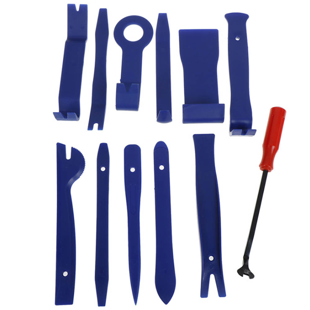 12pcs Car Disassembly Tools DVD Stereo Refit Kits Car Interior Trim Panel Dashboard Installation Removal Repair Tool Set