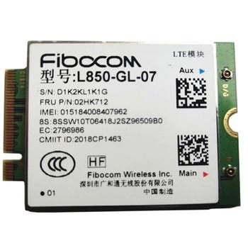 Fibocom  L850-GL 4G Wireless M.2 WWAN Card For Lenovo Thinkpad X1 carbon 7th T490 X390 T490S P53s P43s P72 P72S FRU 02HK712 lenovo thinkpad usb c dock gen2 for v340 17iwl l390 l480 l580 e490 e495 e590 e595 t490 490s t480 480s t590 x270 x280 x390 x390 yoga p53s p43s x1 carbon 6 7 gen x1 yoga 3 4 gen x1 tablet gen 3