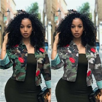 New Fashion Women Camouflage Military Army Short Shirt Jacket Outwear Coat Tops Long Sleeve Print Clubwear Jacket Coat Fall New