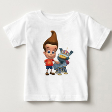 2019 Summer printing Jimmy neutron favorite cartoon animations kids tops boy and girl Short sleeved shirt baby clothes