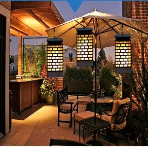 99 светодиодный s мерцающие солнечные пламени светильник Открытый сад Водонепроницаемый светодиодный солнечный светильник сада уличное балкон Декор солнечный светильник USB зарядка Светодиодные солнечные лампы      АлиЭкспресс