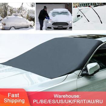 Magnetyczny samochód przednia szyba pokrywa przednia szyba śnieżna Autos osłona przeciwsłoneczna przeciw zamarzaniu przeciwmgielna zimowa osłona przeciwwiatrowa na przednią szybę tanie i dobre opinie polyester fabric sun shade anti-snow anti-frost anti-fog car windshield cover car winter windshield cover