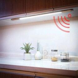 LED Motion Sensor Night Lights Ultra-thin Aluminum Cabinet Light USB Bedroom Wardrobe Living Room Corridor Kitchen Wall Lamp