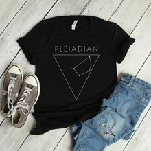 Pleiaden Star Constellation T-shirt Pleiadian Tees Unisex Womens Constellation Patroon Print T Shirts Casual Katoenen Tee Tops(China)