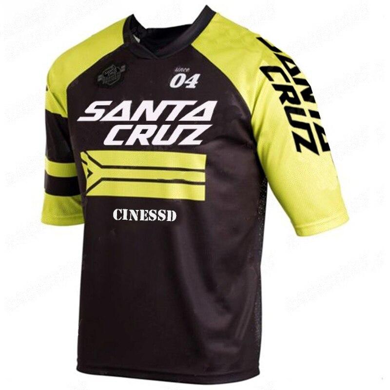 New Racing Downhill Jersey Mountain Bike Cycling Jersey Crossmax Shirt Ciclismo Clothes SANTA CRUZ MTB Motorcycle jersey Men