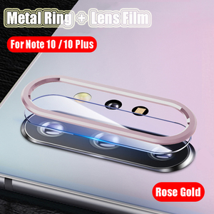 Image 3 - Metal Protective Ring For Samsung Galaxy Note 10 S10 Plus Pro Camera Tempered Glass Screen Protector Samsung Note 10 S10 Glass