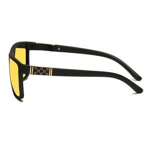Image 4 - Longحارس جديد الرجال ليلة القيادة النظارات الشمسية الاستقطاب للرؤية الليلية نظارات الذكور الكلاسيكية العلامة التجارية مصمم عدسات صفراء اللون نظارات UV400