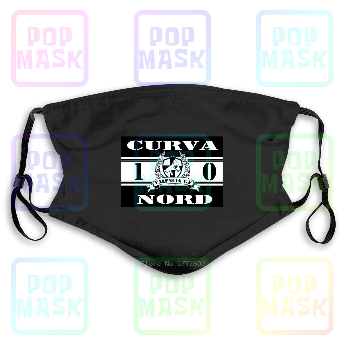 Dust Mask With Filter Ultras Valencia Spagna Curva Nord 1 Washable Reusable Mask