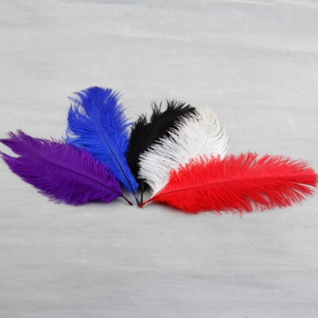 Colorful High Quality Natural Ostrich Feathers Fit XMAS Wedding Decoration image