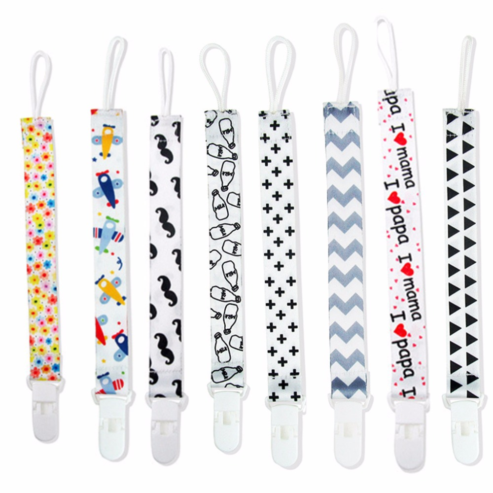 New 1Pc Baby Pacifier Clip Dummy Holder Soother Chain Drop-resistant Buckle Strap