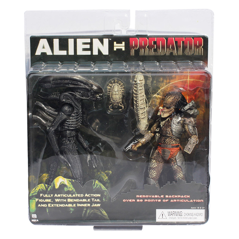 NECA Alien VS Predator Tru Exclusive 2 PACK PVC Action Figure Toy Free Shipping