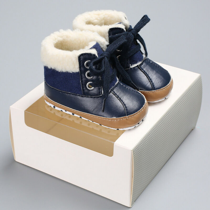 Infant Newborn Baby Boy Winter Warm Boots Kids Baby Boy Booties Shoes