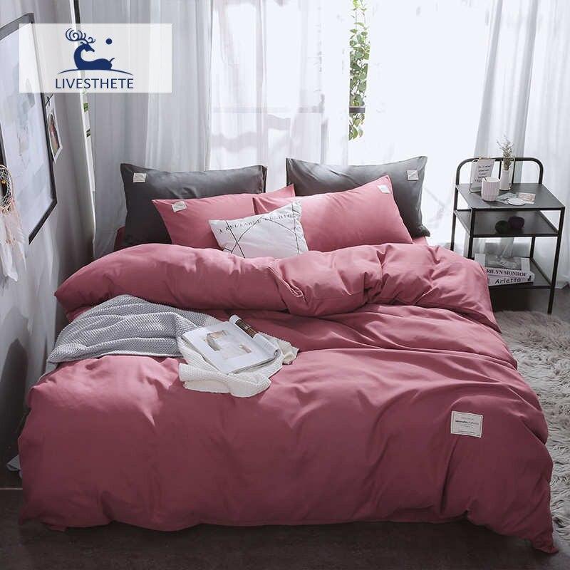 Liv-Esthete 2019 Luxury Bean Red Bedding Set Soft Home Duvet Cover Flat Sheet Double Queen King Bed Linen Quilt