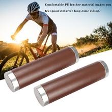 1 пара высококачественный Велосипедный Чехол для велосипедного руля ручки Гладкий мягкий кожаный руль