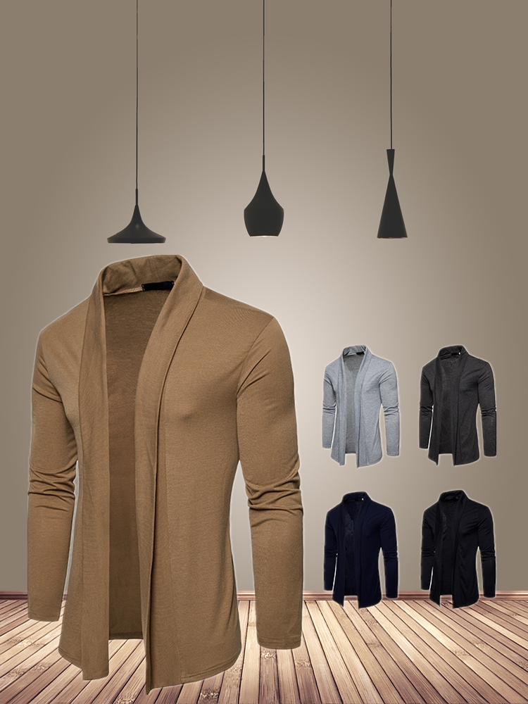 Sweater Jumpers Overcoat Slim-Fit Mens Cardigan Korean-Style New-Fashion Knitred Casual