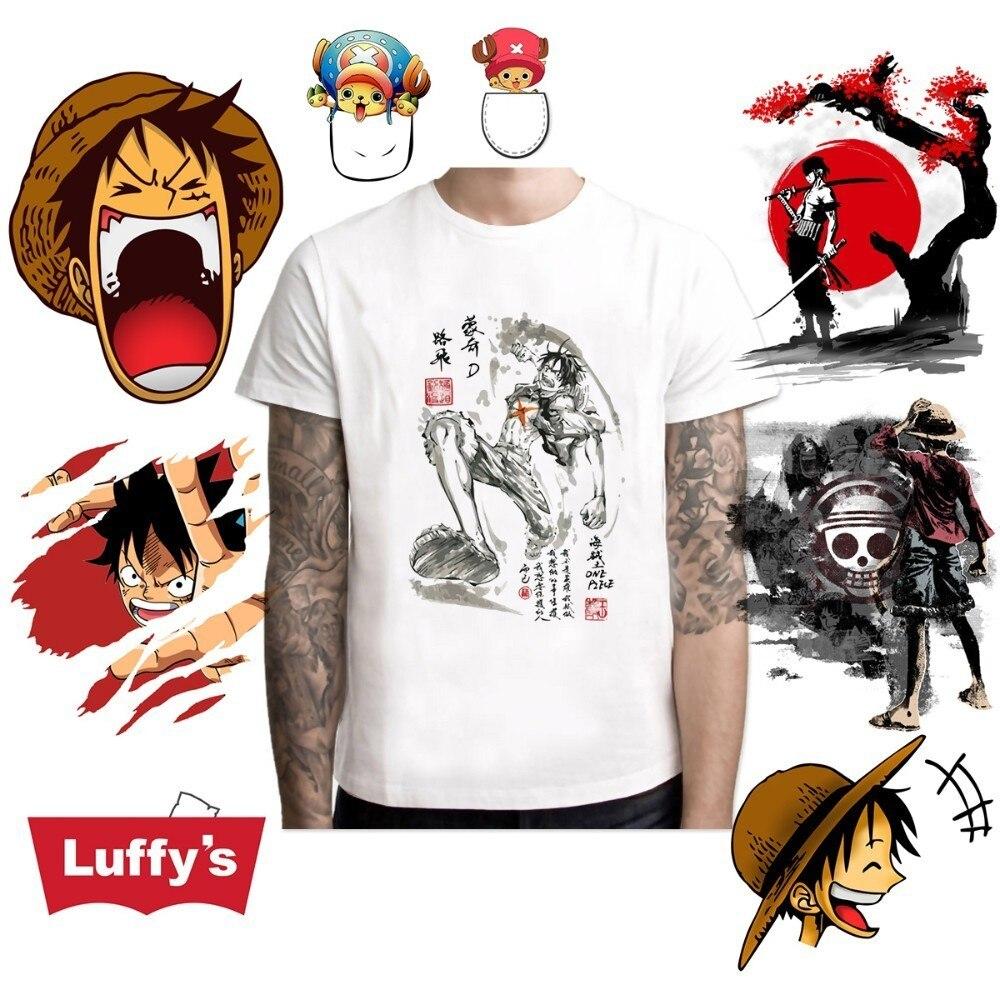 2019 One Piece T Shirt Japanese Anime Shirt Men T-shirt Luffy T Shirts Clothing Tee Shirt Printed Tshirt Short Sleeve Top Tee
