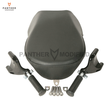 Black Motorcycle Rear Foot Peg Passenger Pillon Seat Cover case for Harley Sportster XL883 XL1200 2007-2013