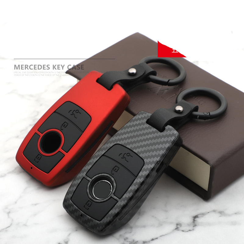Carbon Fiber Matte Car Key Case For Mercedes Benz BGA AMG W203 W210 W211 W124 W202 W204 W205 W212 W176 E Class W213 2018 S class