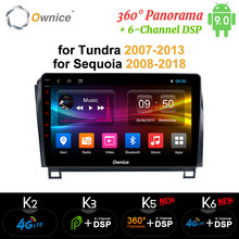 Ownice Android 9,0 8 Core DVD GPS de coche de k3 k5 k6 para Toyota Tundra 2007 - 2013 Sequoia 2008-2018 Radio 4G DSP 360 Panorama óptico(China)