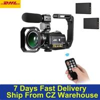 Ordro ac3 4k wifi câmera de vídeo digital filmadora dv gravador 24mp 30x zoom visão noturna ir 3.1 Polegada ips lcd touchscreen