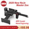 NEJE Master 2 20W CNC Laser Engraver Portable Engraving Carving Machine Mini DIY Laser Logo Mark Printer for Metal Engraving