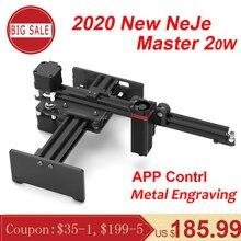 NEJE Master 2 20W CNC Laser Incisore Portatile Incisione Intagliare Macchina Mini FAI DA TE Laser Logo Marchio Stampante per il Metallo incisione